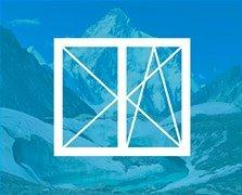 Двустворчатое пластиковое окно VEKA Softline-82