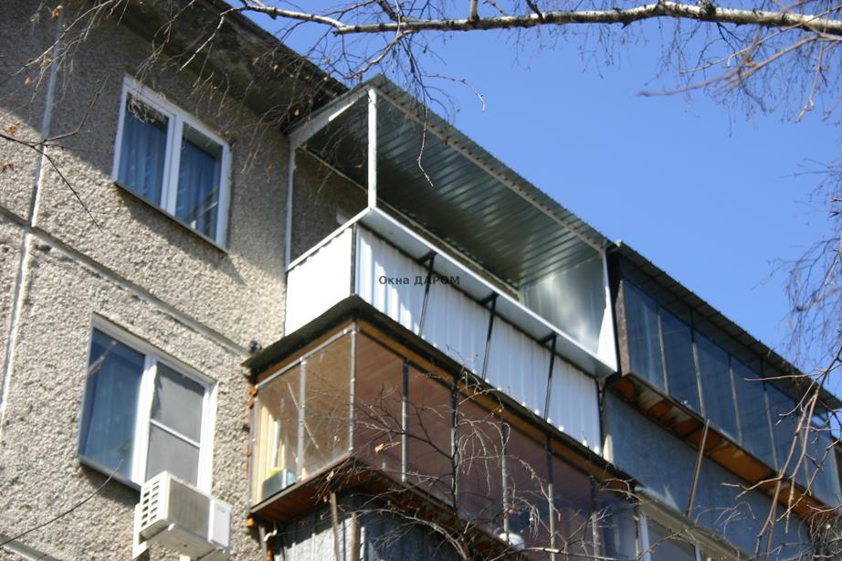 Остекление балкона с выносом карла либнехта 36.