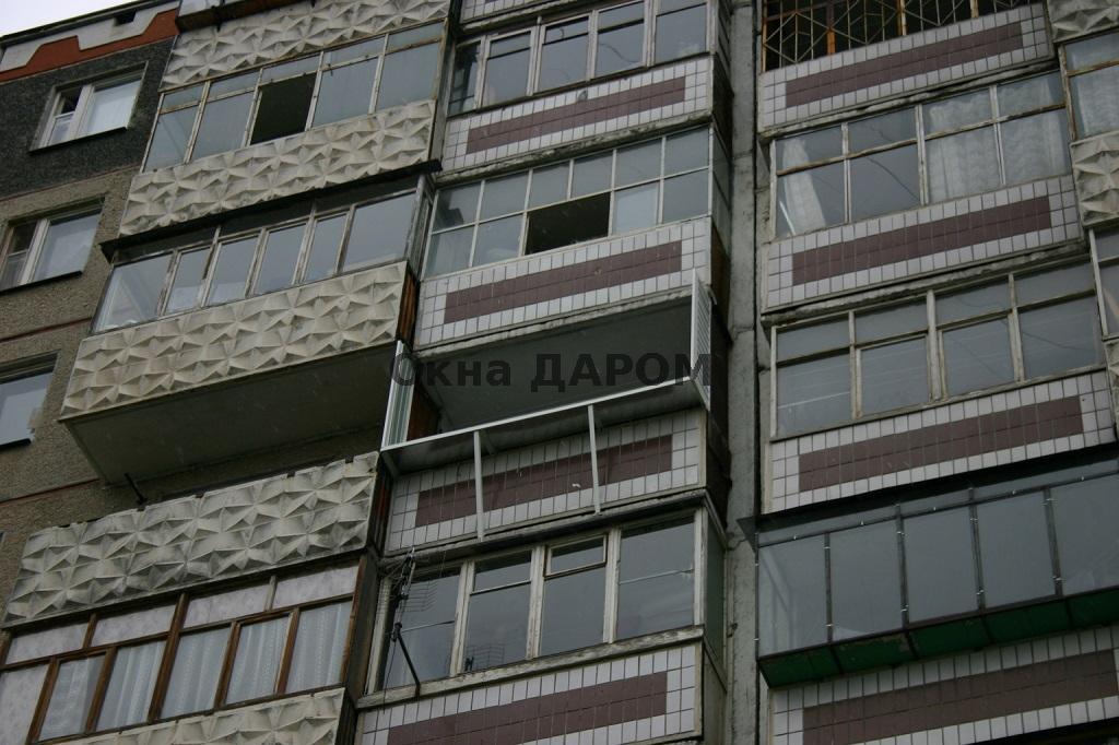 Остекление балкона с выносом комсомольский проспект 124.