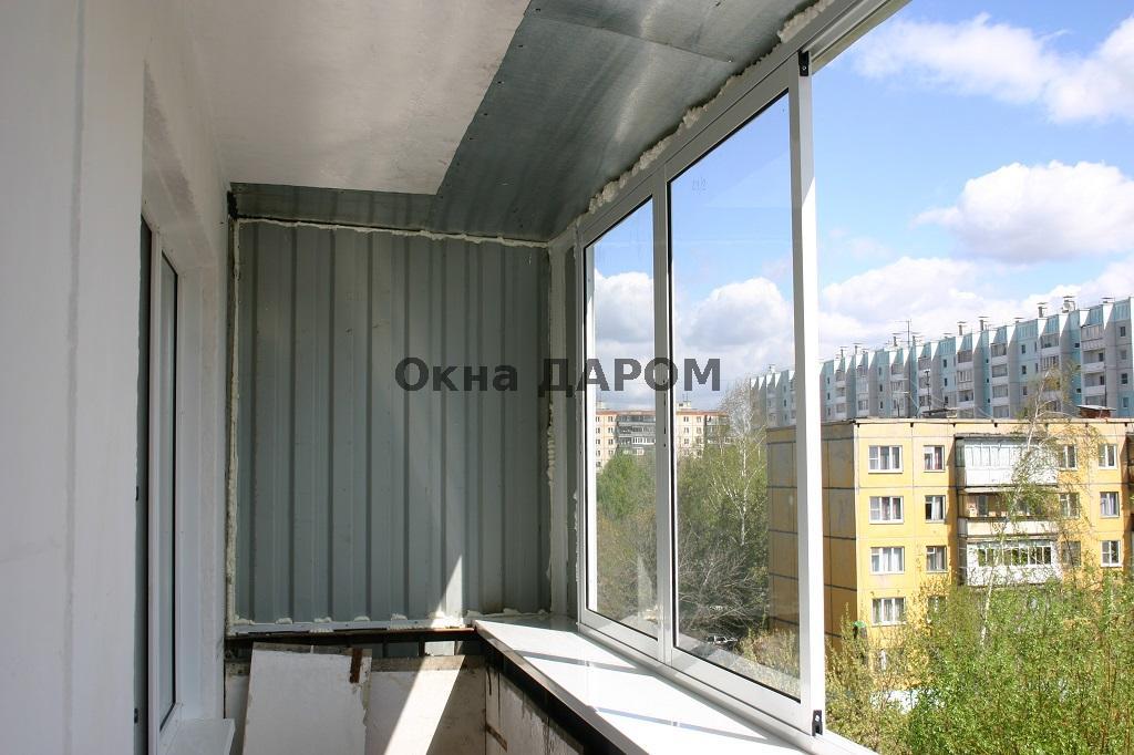 Остекление балкона с выносом масленникова 10.