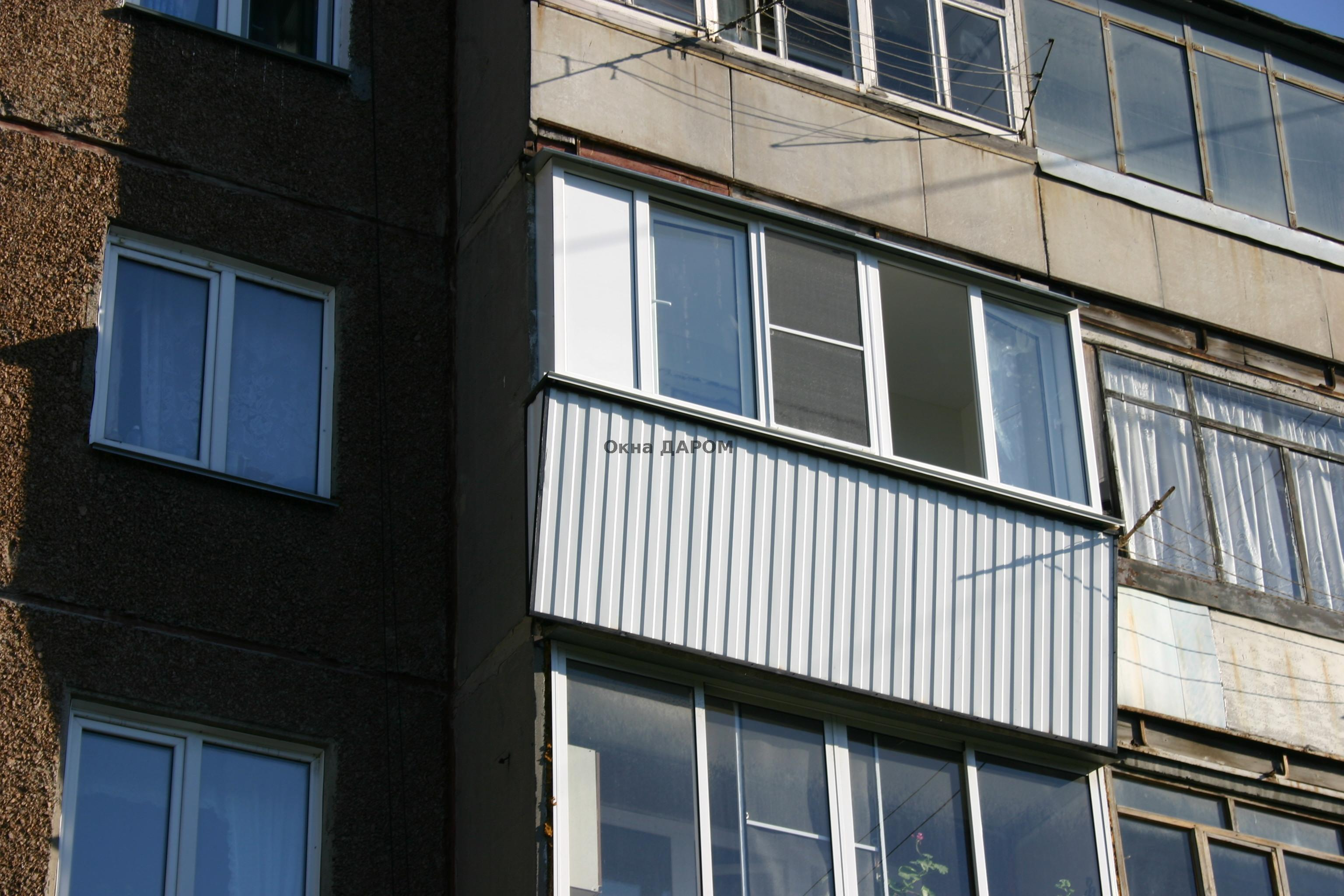Остекление балкона по горького 63а.