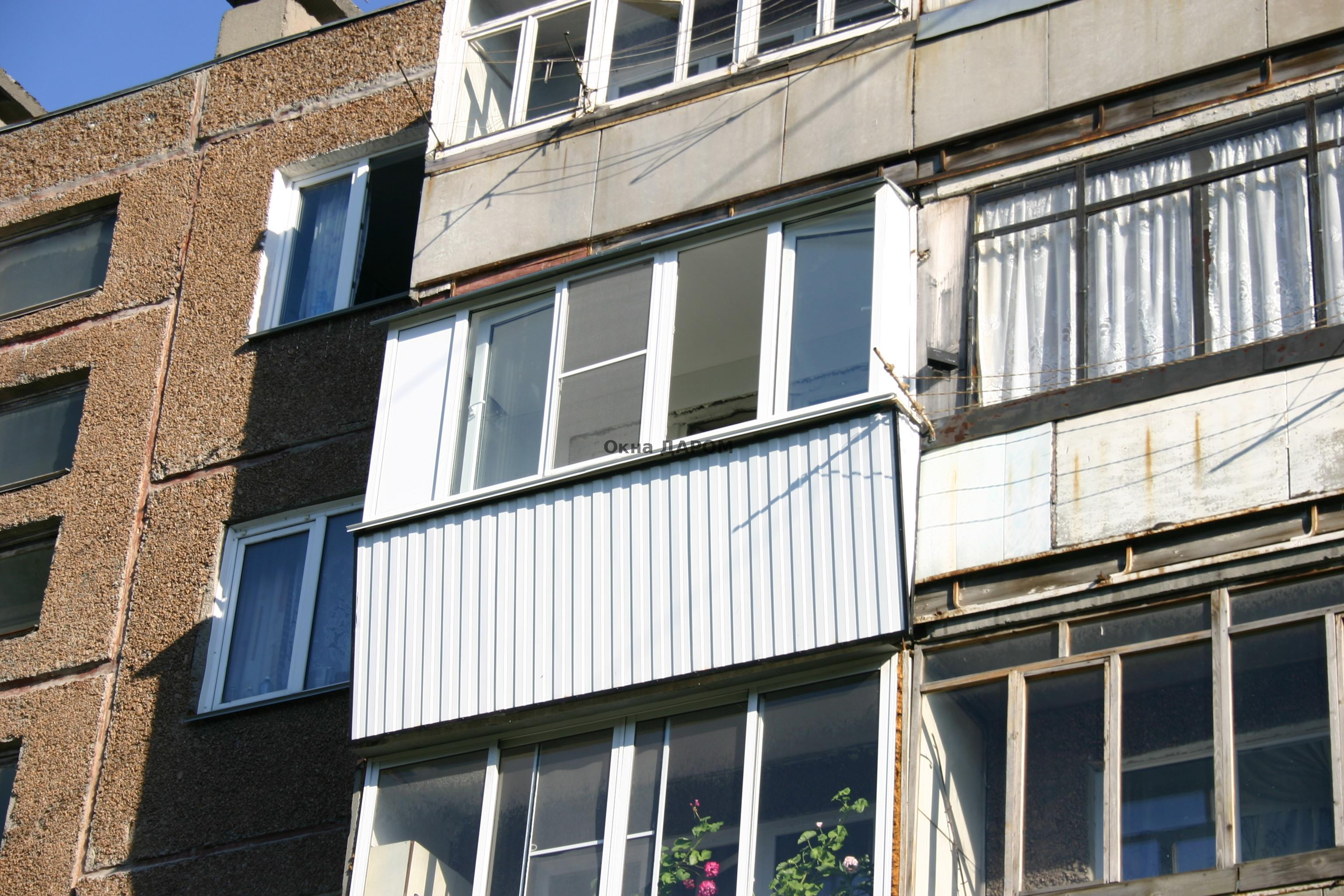 Остекление балкона с выносом из металла туймазы pizzasw.ru с.